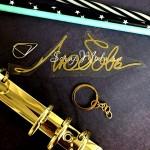 Надпись из термотрансфера Любовь, пленка зеркальное золото, размер 120х40 мм, TN000750
