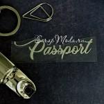 Надпись из термотрансфера Passport757, пленка зеркальное серебро, размер 6,5х1,8см., TN000757