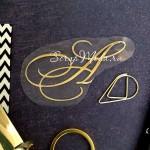 """Буква из термотрансфера """"А"""", пленка зеркальное золото, размер общий 6х3,6см., TN000765"""