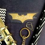 Рисунок из термотрансфера Batman, зеркальное золото, размер 70х25 мм., TN000782