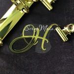 """Буква из термотрансфера """"Н"""", зеркальное золото, размер 6,5х4см., TN000798"""