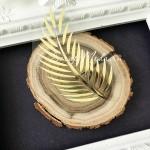Рисунок из термотрансфера Папоротник, пленка зеркальное золото, размер 48х90мм., TN000800