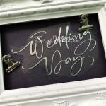 Надпись из термотрансфера Wedding Day838, плёнка зеркальное серебро, размер общий 12,5x7,5см., ZA000839