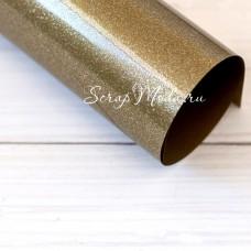 Термотрансферная пленка с блестками Gold, размер 25х25см., TR000008