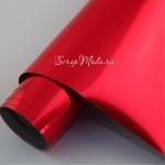 Термотрансферная пленка с зеркальным эффектом Красный, размер 25х25см., TR000033