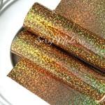 Термотрансферная пленка Золото (мелкая голография), размер 25х25см., TR000048