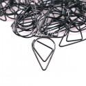 Скрепка Капля, металлизированная, чёрная, 15х25 мм., цена за 1 шт., LI000347