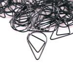 Скрепка Капля, металлизированная, чёрная, 15х25 мм., цена за 1 шт., UB000023