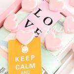Зажим-сердечко декоративный, розовый, размер 3x2,5 см., цена за 1 штуку. UB000026