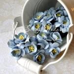 Цветы Вишни голубые с тычинками, 25 мм., 5 шт., UC000047