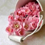 Цветы Вишни розовые с тычинками, 25 мм., 5 шт., UC000170