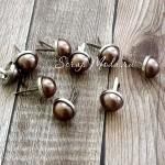 Брадс жемчужина в металлической оправ, Chocolate, цена за 1 шт., Kraiser Craft, UC000243