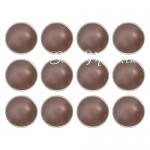 Брадс жемчужина в металлической оправ, Chocolate, 12 шт., Kraiser Craft