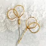 Кольца Обручальные 359, золотые, проволока,  20 мм, длина проволоки 100 мм., цена за 1 шт.