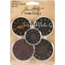 Металлический циферблат - Timepieces - Idea-ology - Tim Holtz, 5 штук. UC000449
