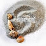 Искусственный песок, серый,  40 гр.