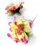 Гардения на веточке с тычинками, кремо-розовая с тычинками,  75 мм., UC000576. Prima Marketing