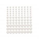 Полубусины, белые, Melissa France, размер от 4-8 мм, 99 шт., UC000582