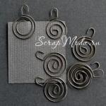 Скрепка спираль, цена за 1 шт., серебро, размер 24х34 мм., 7 Gypsies. UC000921