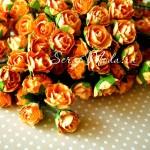 Розочка кудрявая, бумажная, Оранжевая, 20 мм, 6 шт., UC000977