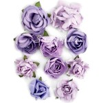 Цветы Paper Blooms, Amethyst, 10 шт., от 30 до 42 мм, F643, Kaiser Craft, UC001026
