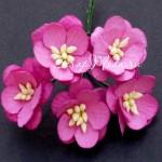 Цветы Вишни с тычинками, ярко-розовые, 25 мм., 5 шт., UC001030