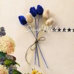 Букет из 6 бутонов вельветовых розочек, Petite Roses By Webster's Pages
