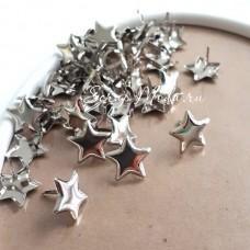 Брадс Star, серебро, 10 шт. 14 мм, Creative Impressions, UC001150