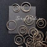 Скрепка Spiral, серебро, 1 шт., 20 мм., Creative Impressions