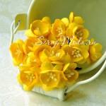 Цветы Вишни, цвет:жёлтый, размер 25 мм., цена за 5 шт., UC001190