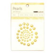 Полубусинки на самоклейке Yellow, Kaiser Craft