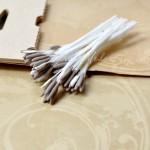 Тычинки матовые односторонние, на белой ножке, 7 шт., капучино