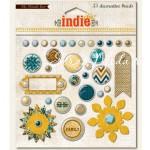 Набор Брадс, коллекция  Indie Chic-Boy,  размер упаковки: 13х13см., My Mind's Eye, UC001276