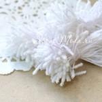 Тычинки Сахарные, Белые,  20 шт.,  длина тычинки 55 мм., UC001334