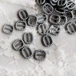 Пряжка для лент 1621, Серое Серебро, пластик, 10 мм., цена за 1 шт.