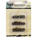 Брадсы Mini Brads Assorted Screws - Vintage Trinkets - Mechanicals - Sunrise Sunset,  в наборе 100 брадс, Prima Marketing, UC001797