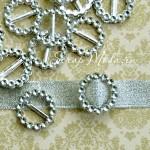 Пряжка для лент Круглая 1841, серебро, пластик,  22 мм., цена 1 шт.