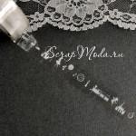 Декоративный Прозрачный Скотч Принцесса 1910, принт белый, ширина 15 мм, 10 метров в рулончике, цена за 1 шт.