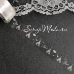 Декоративный Прозрачный Скотч From Paris with love 1912, принт белый, ширина 15 мм, 10 метров в рулончике, цена за 1 шт.