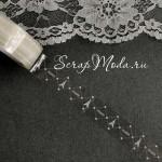 Декоративный Прозрачный Скотч Париж сетка 1925, принт белый, ширина 15 мм, 10 метров в рулончике, цена за 1 шт.