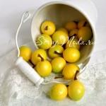 Декоративные Лимончики 1949,  желто-салатовые, размер 26 мм., цена за 1 шт.