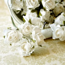 Розочки Белая, на проволоке, 22 мм, цена за 1 шт., UC002072