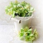 Лилия  светло-салатовая с тычинками на проволоке, 50 мм, цена за 1 шт., UC002086