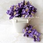 Лилия  фиолетовая с тычинками на проволоке, 50 мм, цена за 1 шт., UC002087