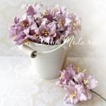 Лилия  светло-сиреневая с тычинками на проволоке, 50 мм, цена за 1 шт., UC002088