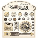 Набор Брадс, коллекция Lost&Found Record it By Jen Allyson, Antique, в наборе 20 брадс, My Mind's Eye, UC002133
