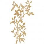 Деревянное украшение Bird Branch, размер упаковки 120х120 мм, толщина 2 мм., Kaiser Craft, UC002236