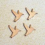 Деревянные украшения Hummingbirds, 38x40 мм, толщина 2 мм., цена за 1 шт., Kaiser Craft, UC002239