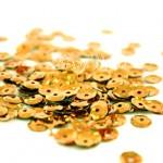 Пайетки золотые, 6 мм., 4-5 гр.., UC002377