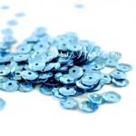 Пайетки голубые, 6 мм., 4-5 гр.., UC002378